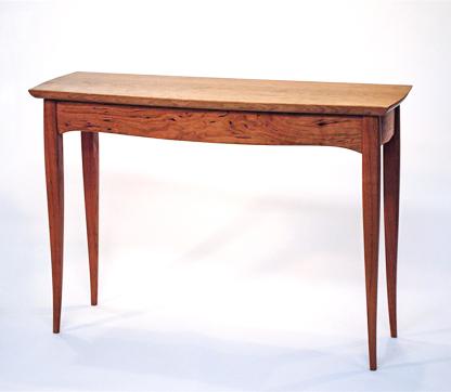 Sculpted Hardwood Sofa Table
