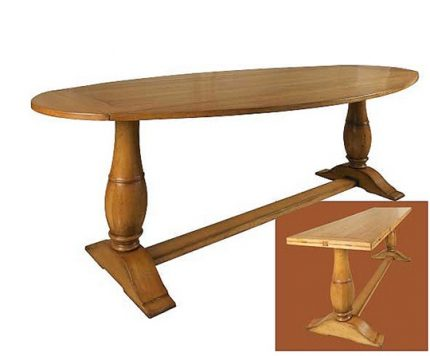 Flip-top Trestle Console Table