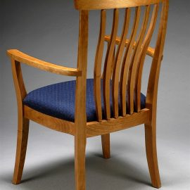 Wide Winged Dining Chair
