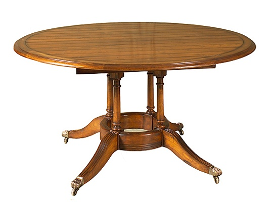 Four Column Round Dining Table