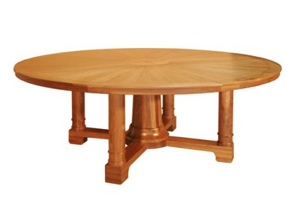 Five Pedestal Dining Table