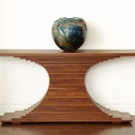 Elliptical Console Table front view