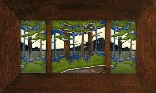 Pine Landscape Framed Set