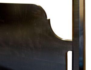 Ebonized Pencil Post Headboard Detail