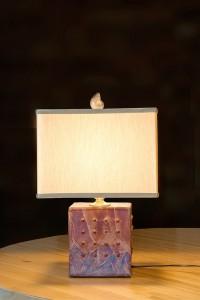 Cube Raku Lamp