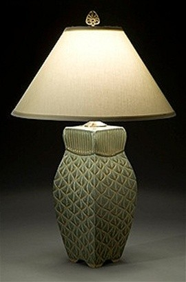Four-Sided Lamp in Sage