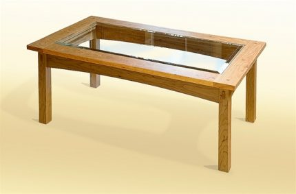 Prairie Glass Top Coffee Table