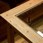 Prairie Glass Top Coffee Table detail