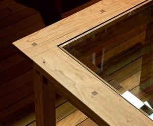 Prairie Glass Top Coffee Table detail