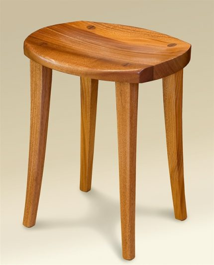 Carved Stool (Cherry)