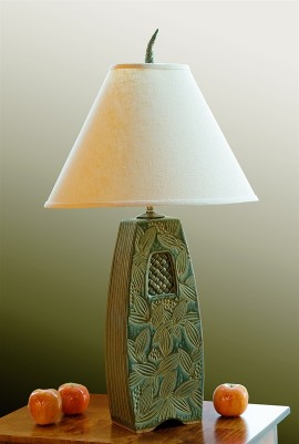 Woven Window Lamp in Sage