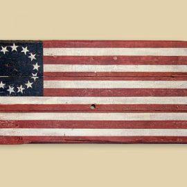 Reclaimed Barn Wood Betsy Ross Flag