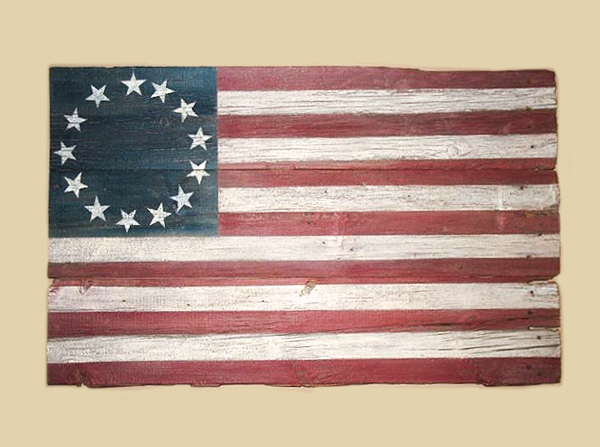 Reclaimed Barn Wood Betsy Ross Flag - Harvard, IL