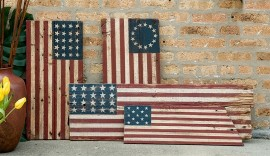 Reclaimed Barn Wood American Flags