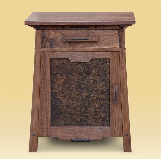 Custom Walnut End Table
