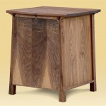 Custom Walnut End Table rear view
