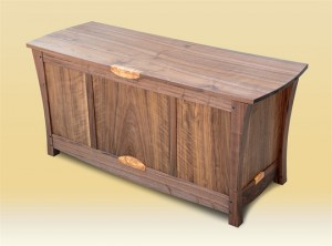 Walnut Blanket Chest top view