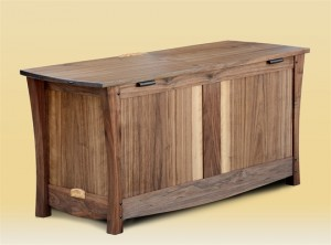Walnut Blanket Chest rear view