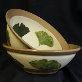 High Gingko Serving Bowl