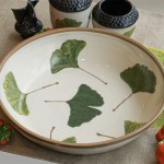 Large Ginkgo Serving Bowl inside