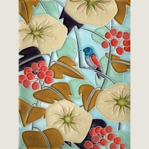Light Blue Hummingbird Tile