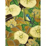 Green Oak Hummingbird Tile