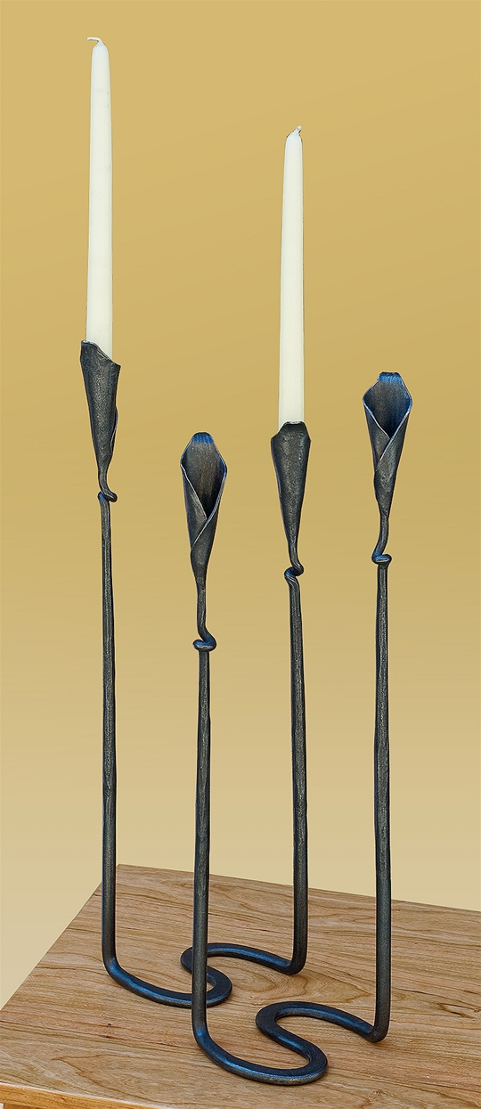 Double Calla Lilly Candlestick