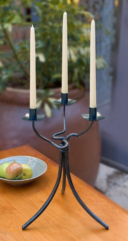 Three Taper Iron Candlestick