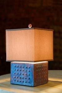 Squat Raku Lamp