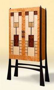 Custom Prairie Windows Wine Cabinet