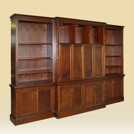 Custom Walnut Entertainment Center
