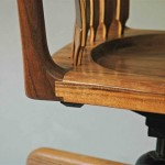 Floating Desk Chair Back Detail