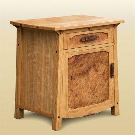 Burled Side Cabinet