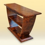 Walnut Burl Elephant Console side view