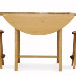 Drop Leaf Bistro Table Side View