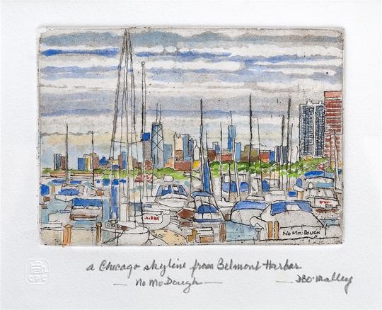 Chicago Skyline from Belmont Harbor
