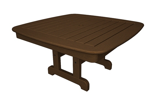 Eco Casual Nautical Dining Table, 44u2033 Square Table (Shown) Design