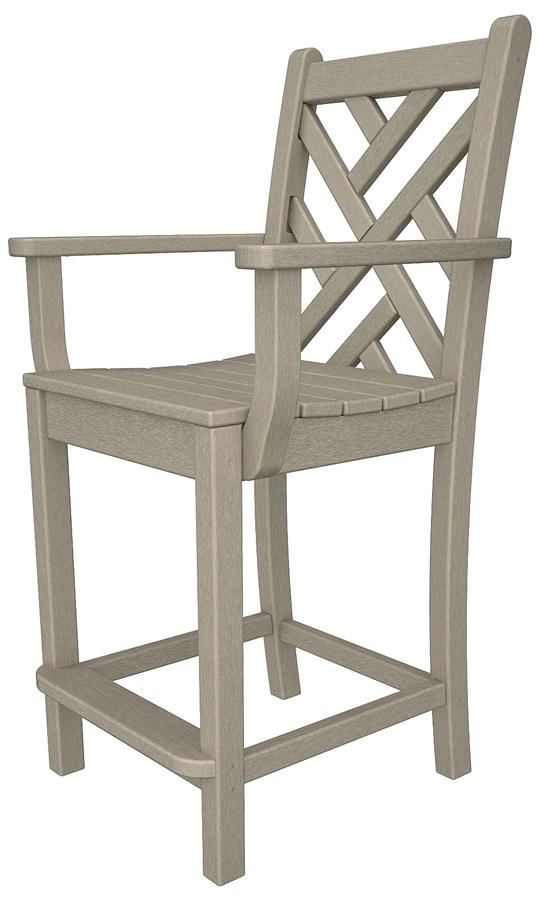 Chippendale Counter Chair with Arms