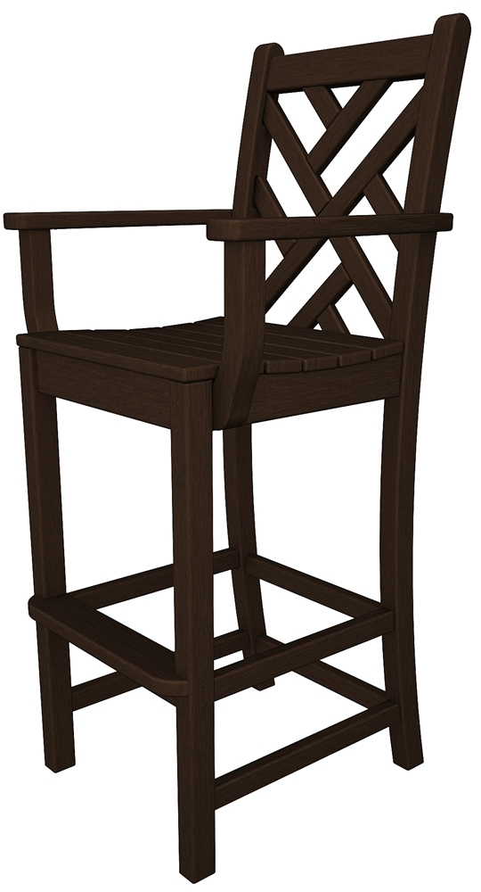 Chippendale Bar Chair with Arms