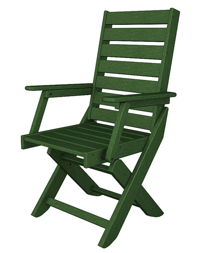 Green Folding Captain Dining Chair