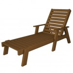 Teak Captain Chaise