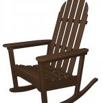 Mahogany Adirondack Rocking Chair