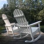 Adirondack Rocking Chair rear view