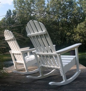Adirondack Rocking Chair rear view