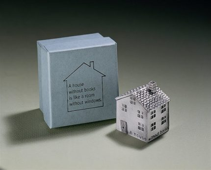 """A House Without Books"" Paper Weight"