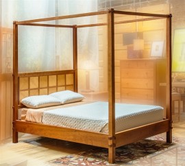 Windowpane High Post Bed