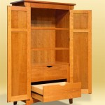 Figured Cherry Armoire open