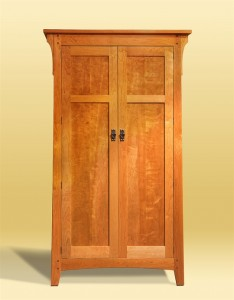 Figured Cherry Armoire front view