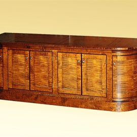 Custom Tiger Maple and Ebony Credenza