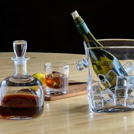 Woodbury Barware - Decanter and Ice bucket by Simon Pearce